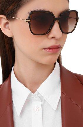 Женские солнцезащитные очки DOLCE & GABBANA коричневого цвета, арт. 6157-502/13   Фото 2