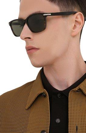 Мужские солнцезащитные очки DIOR коричневого цвета, арт. DI0RBLACKSUIT SI 20C0   Фото 2 (Тип очков: С/з; Оптика Гендер: оптика-мужское)