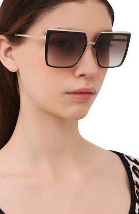 Женские солнцезащитные очки PRADA черного цвета, арт. 58WS-AAV0A7   Фото 2