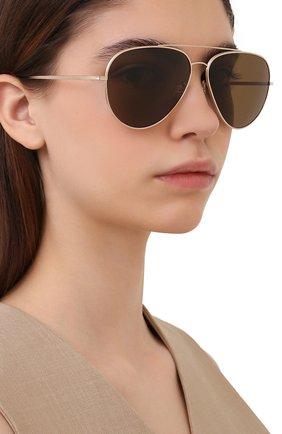 Женские солнцезащитные очки OLIVER PEOPLES коричневого цвета, арт. 1277ST-529257 | Фото 2