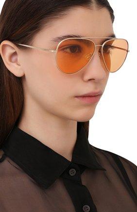 Женские солнцезащитные очки OLIVER PEOPLES оранжевого цвета, арт. 1277ST-5292V9 | Фото 2