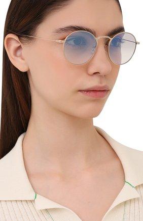 Женские солнцезащитные очки OLIVER PEOPLES золотого цвета, арт. 1282ST-529232 | Фото 2