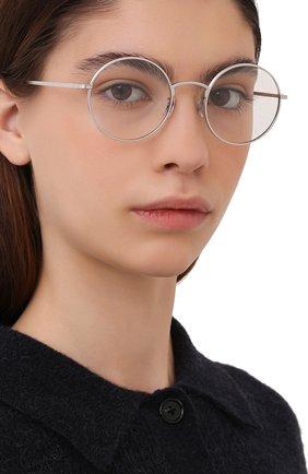 Женские солнцезащитные очки OLIVER PEOPLES серебряного цвета, арт. 1197ST-52541W | Фото 2