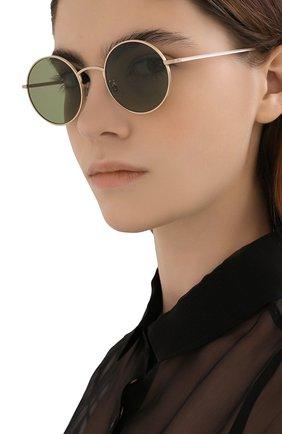 Женские солнцезащитные очки OLIVER PEOPLES зеленого цвета, арт. 1197ST-525252 | Фото 2