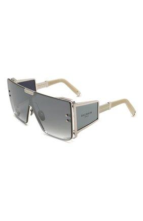 Женские солнцезащитные очки BALMAIN белого цвета, арт. BPS-102F | Фото 1 (Тип очков: С/з; Очки форма: Прямоугольные, Маска; Оптика Гендер: оптика-женское)