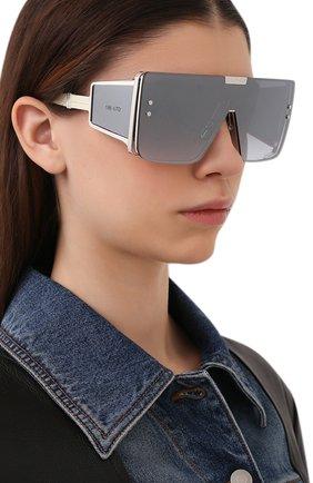 Женские солнцезащитные очки BALMAIN белого цвета, арт. BPS-102F | Фото 2 (Тип очков: С/з; Очки форма: Прямоугольные, Маска; Оптика Гендер: оптика-женское)