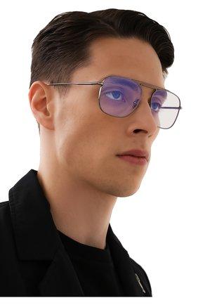 Мужские оправа TOM FORD серебряного цвета, арт. TF5731-B 008 | Фото 2 (Тип очков: Оправа; Оптика Гендер: оптика-мужское; Очки форма: Прямоугольные)