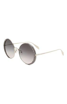Женские солнцезащитные очки ALEXANDER MCQUEEN серого цвета, арт. AM0311S 001 | Фото 1