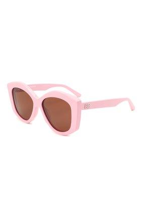 Женские солнцезащитные очки BALENCIAGA розового цвета, арт. BB0126S 003 | Фото 1