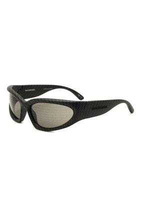 Женские солнцезащитные очки BALENCIAGA темно-серого цвета, арт. BB0157S 003 | Фото 1