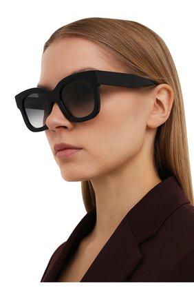 Женские солнцезащитные очки THIERRY LASRY черного цвета, арт. UNIC0RNY 101   Фото 2