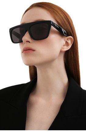 Женские солнцезащитные очки BOTTEGA VENETA черного цвета, арт. BV1060S 001   Фото 2