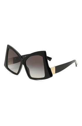 Женские солнцезащитные очки VALENTINO черного цвета, арт. 4091-50018G | Фото 1