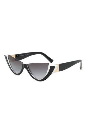 Женские солнцезащитные очки VALENTINO черно-белого цвета, арт. 4095-51818G   Фото 1