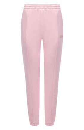 Женские хлопковые джоггеры VETEMENTS розового цвета, арт. WA52PA250P 1606/BABY PINK | Фото 1