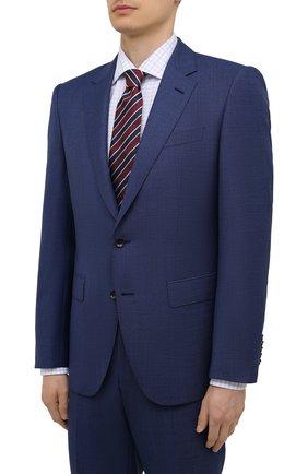 Мужской шерстяной костюм BOSS синего цвета, арт. 50453730 | Фото 2
