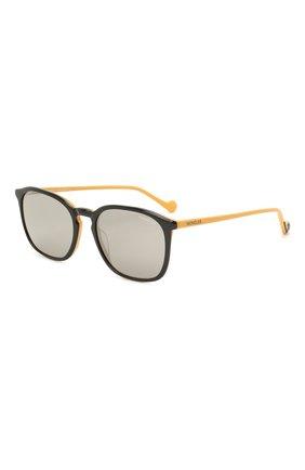Мужские солнцезащитные очки MONCLER желтого цвета, арт. ML 0150 05C 56 С/З ОЧКИ | Фото 1