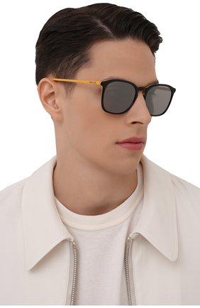 Мужские солнцезащитные очки MONCLER желтого цвета, арт. ML 0150 05C 56 С/З ОЧКИ | Фото 2