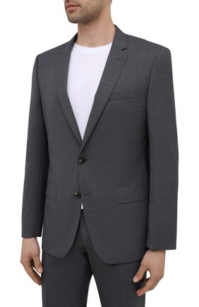 Мужской шерстяной костюм BOSS темно-серого цвета, арт. 50453664 | Фото 2