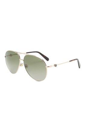 Мужские солнцезащитные очки MONCLER зеленого цвета, арт. ML 0201 32R 60 С/З ОЧКИ   Фото 1