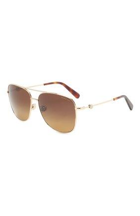 Мужские солнцезащитные очки MONCLER коричневого цвета, арт. ML 0200 32H 59 С/З ОЧКИ | Фото 1