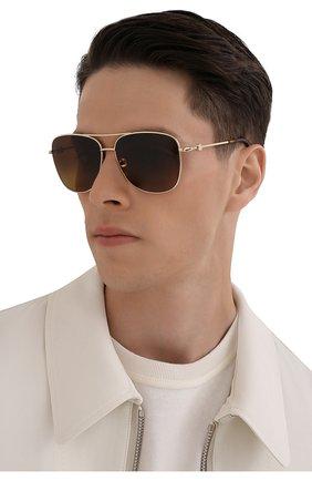 Мужские солнцезащитные очки MONCLER коричневого цвета, арт. ML 0200 32H 59 С/З ОЧКИ | Фото 2