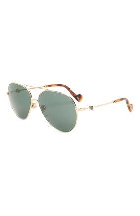 Мужские солнцезащитные очки MONCLER зеленого цвета, арт. ML 0168 32N 60 С/З ОЧКИ   Фото 1
