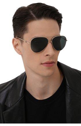 Мужские солнцезащитные очки MONCLER зеленого цвета, арт. ML 0168 32N 60 С/З ОЧКИ   Фото 2