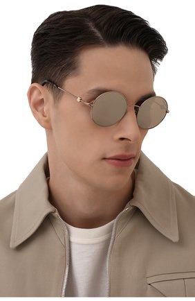 Мужские солнцезащитные очки MONCLER золотого цвета, арт. ML 0193 34Z 51 С/З ОЧКИ | Фото 2