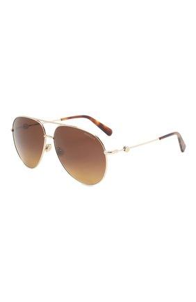 Мужские солнцезащитные очки MONCLER коричневого цвета, арт. ML 0201 32H 60 С/З ОЧКИ | Фото 1