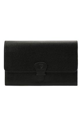 Мужской кожаный футляр для документов ASPINAL OF LONDON черного цвета, арт. 062-2412_14210000 | Фото 1