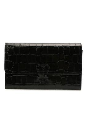 Мужской кожаный футляр для документов ASPINAL OF LONDON черного цвета, арт. 062-2412_00150000 | Фото 1