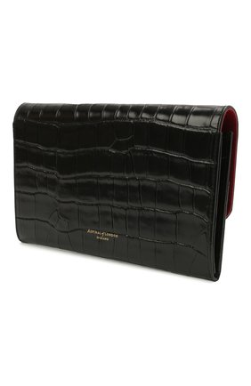 Мужской кожаный футляр для документов ASPINAL OF LONDON черного цвета, арт. 062-2412_00150000 | Фото 2