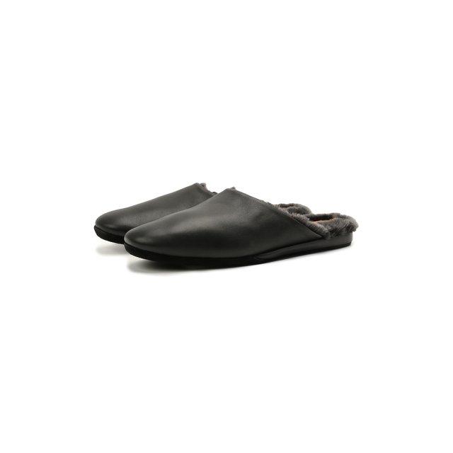 Кожаные домашние туфли Santoni
