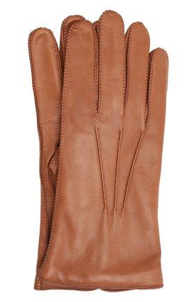 Мужские кожаные перчатки LORO PIANA светло-коричневого цвета, арт. FAI8883 | Фото 1