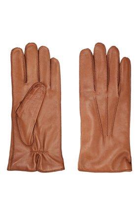 Мужские кожаные перчатки LORO PIANA светло-коричневого цвета, арт. FAI8883 | Фото 2