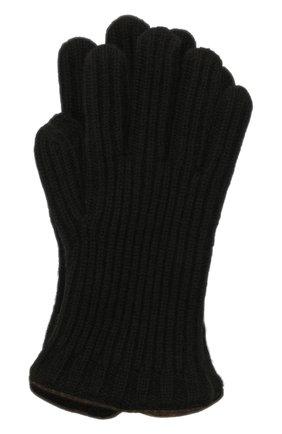 Мужские кашемировые перчатки LORO PIANA черного цвета, арт. FAI4645 | Фото 1 (Материал: Шерсть, Кашемир; Кросс-КТ: Трикотаж)