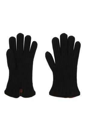 Мужские кашемировые перчатки LORO PIANA черного цвета, арт. FAI4645 | Фото 2 (Материал: Шерсть, Кашемир; Кросс-КТ: Трикотаж)