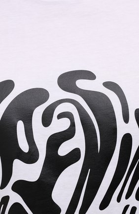 Мужская хлопковая футболка OPENING CEREMONY белого цвета, арт. YMAA001S21JER003   Фото 5 (Рукава: Короткие; Длина (для топов): Стандартные; Принт: С принтом; Материал внешний: Хлопок; Стили: Спорт-шик)