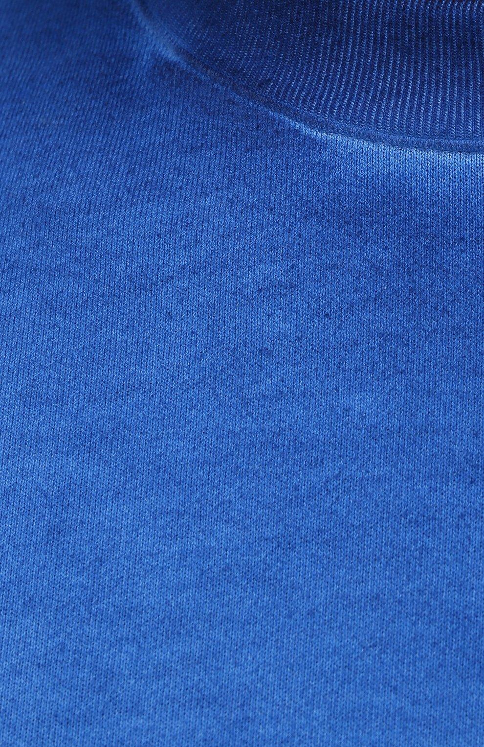 Мужской хлопковый свитшот OPENING CEREMONY синего цвета, арт. YMBA003S21FLE002   Фото 5 (Рукава: Длинные; Принт: Без принта; Длина (для топов): Стандартные; Мужское Кросс-КТ: свитшот-одежда; Материал внешний: Хлопок; Стили: Спорт-шик)