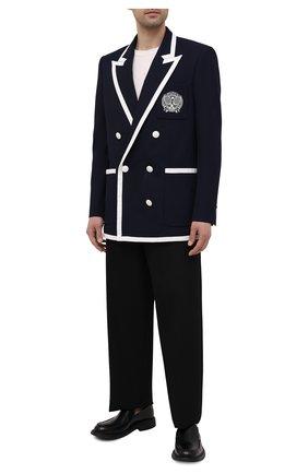 Мужской шерстяной пиджак BALMAIN темно-синего цвета, арт. WH1SI003/081W | Фото 2