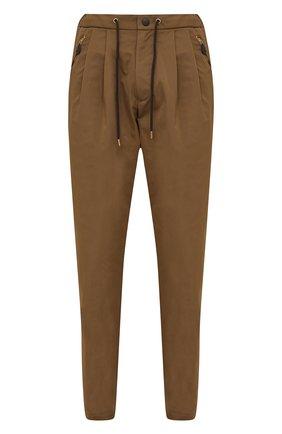 Мужские брюки GIORGIO ARMANI бежевого цвета, арт. 1WGPP0JA/T02P3 | Фото 1