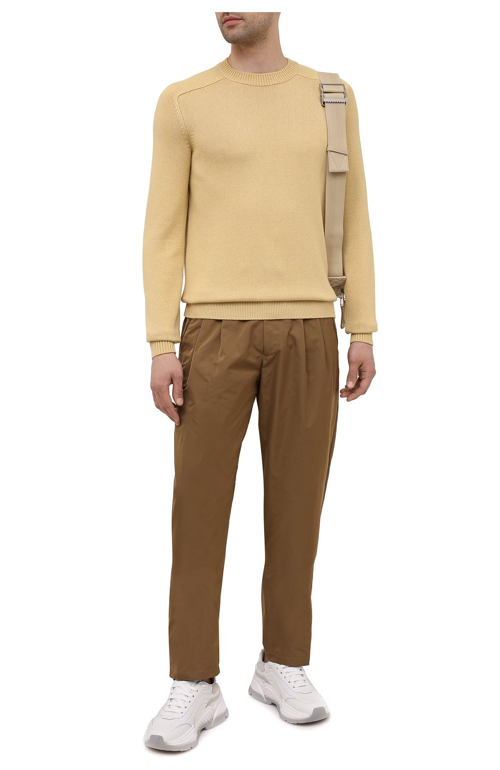 Мужские брюки GIORGIO ARMANI бежевого цвета, арт. 1WGPP0JA/T02P3   Фото 2