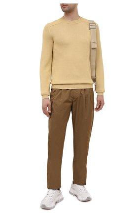 Мужские брюки GIORGIO ARMANI бежевого цвета, арт. 1WGPP0JA/T02P3 | Фото 2