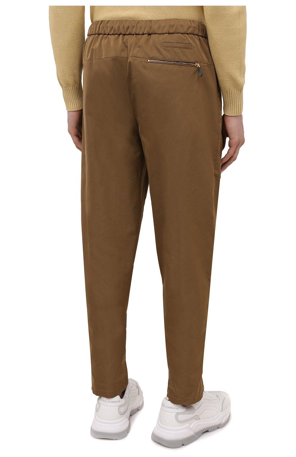Мужские брюки GIORGIO ARMANI бежевого цвета, арт. 1WGPP0JA/T02P3   Фото 4
