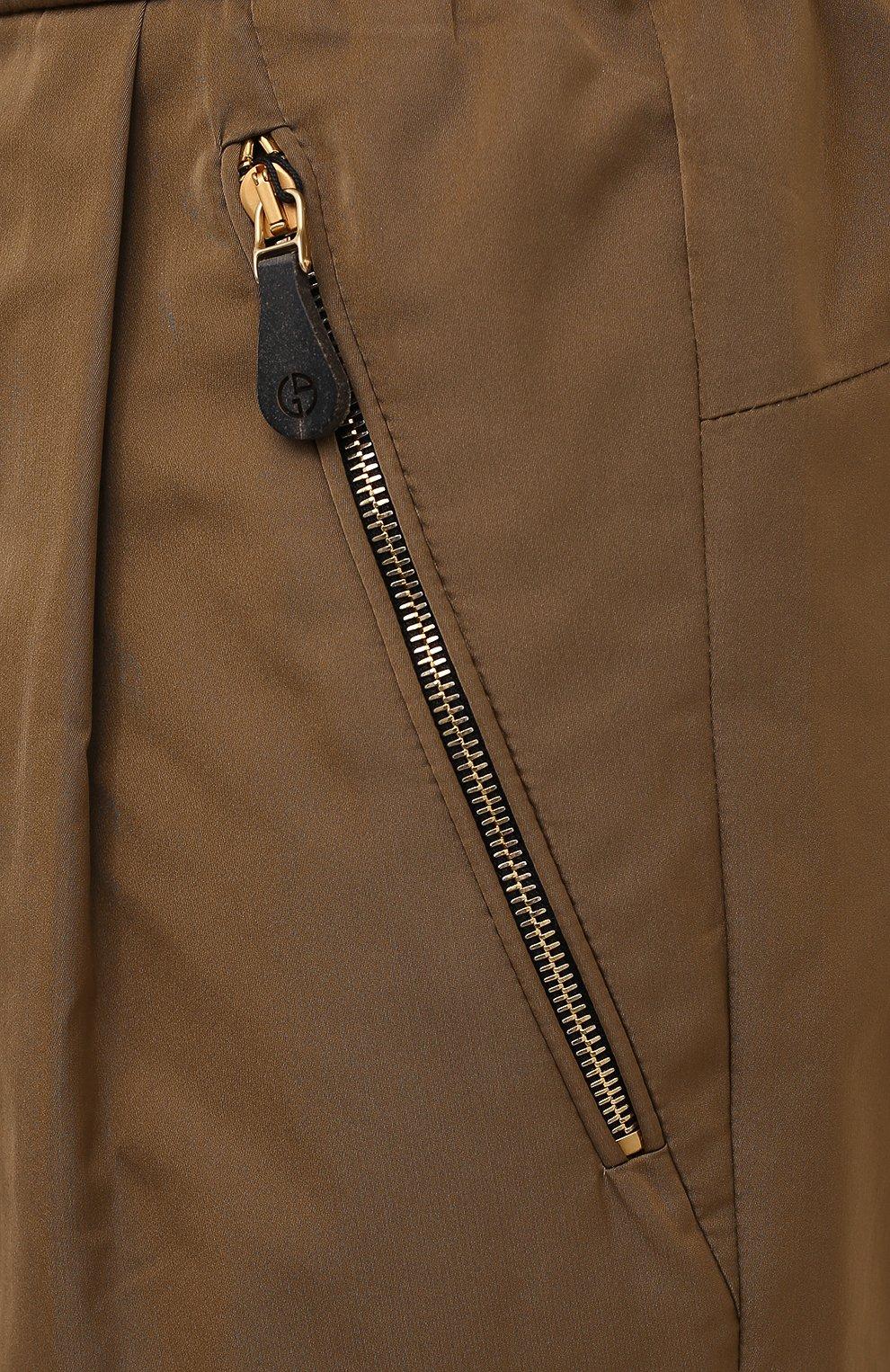 Мужские брюки GIORGIO ARMANI бежевого цвета, арт. 1WGPP0JA/T02P3   Фото 5
