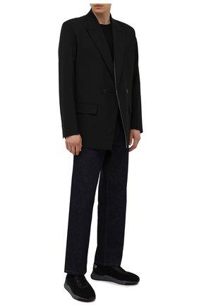 Мужские текстильные кроссовки SANTONI черного цвета, арт. MBI021601ANENH0DN01 | Фото 2