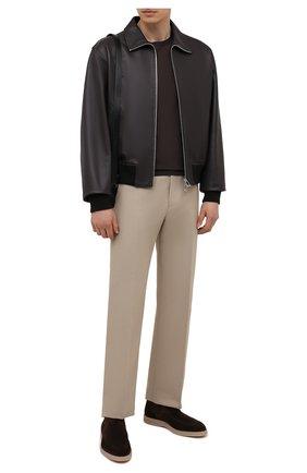 Мужские замшевые челси SANTONI темно-коричневого цвета, арт. MGDG17690TAAESVUT50 | Фото 2