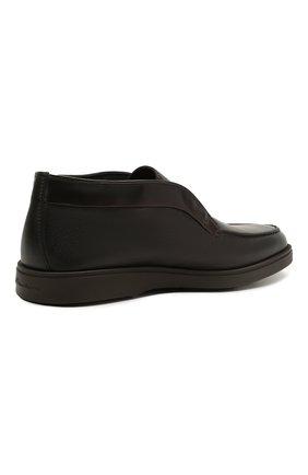 Мужские кожаные ботинки SANTONI темно-коричневого цвета, арт. MGDG17823DATANWLT50 | Фото 4 (Мужское Кросс-КТ: Ботинки-обувь, зимние ботинки; Подошва: Плоская)