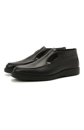 Мужские кожаные ботинки SANTONI черного цвета, арт. MGDG17823NERANWLN01 | Фото 1